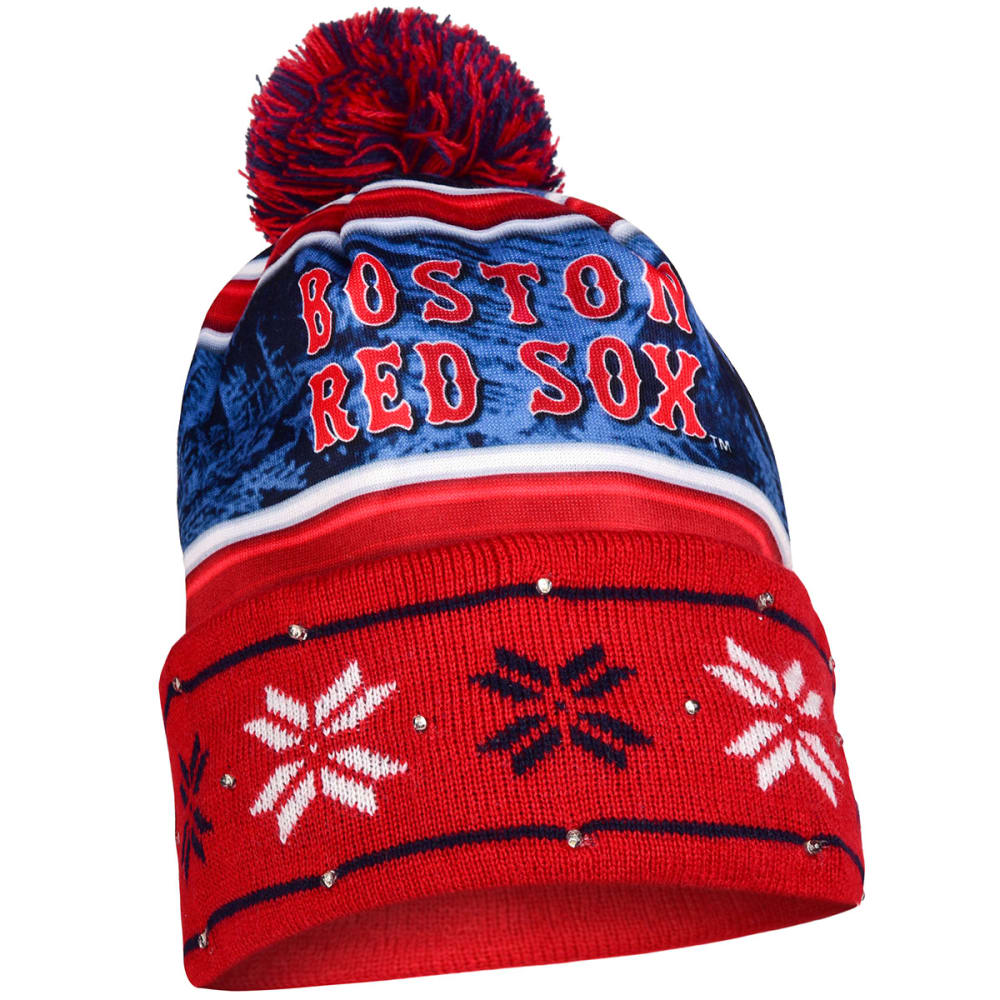 BOSTON RED SOX Wordmark Light Up Printed Beanie - RED SOX