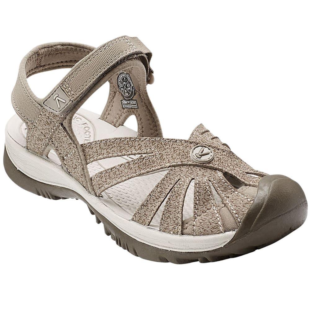 KEEN Women's Rose Sandals, Brindle/Shitake 6