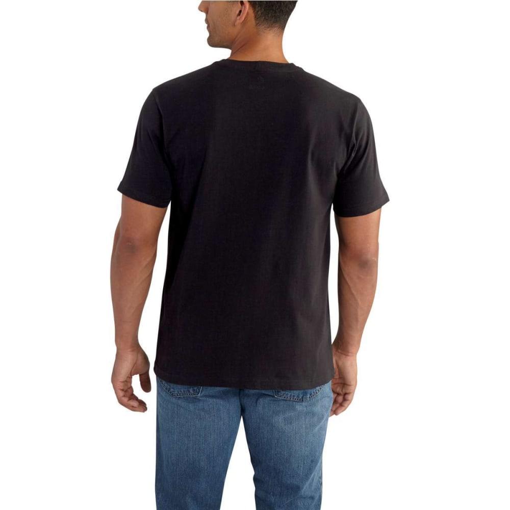 CARHARTT Men's Lubbock Graphic Distressed Flag Short-Sleeve Tee - BLACK 001