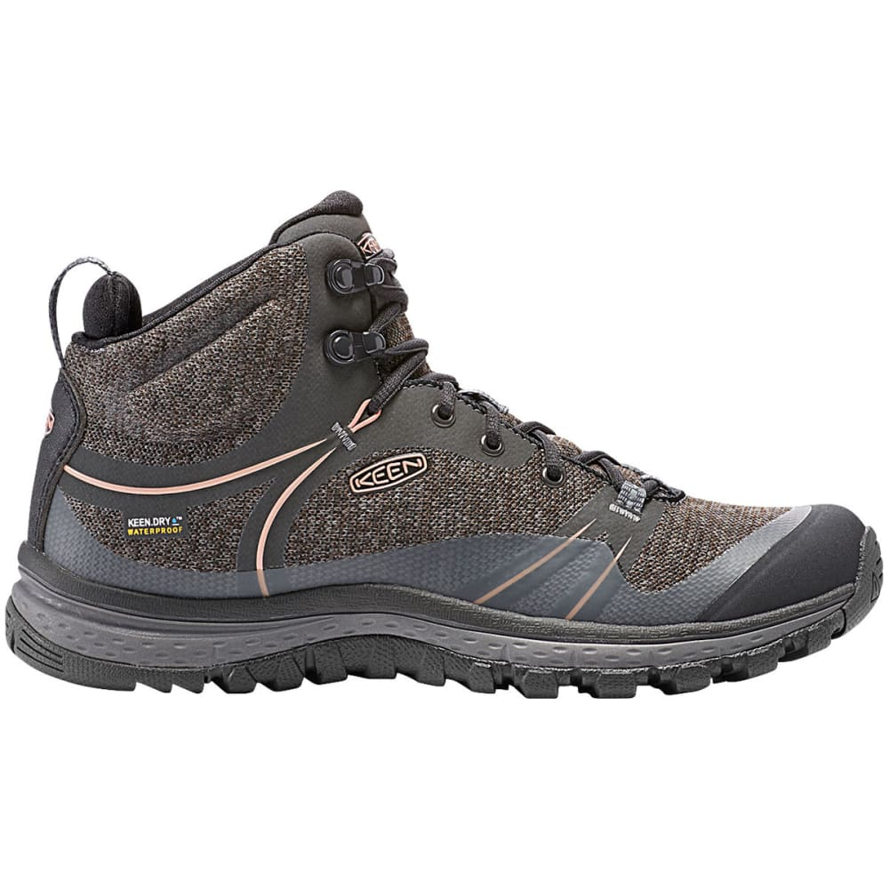 Keen Women's Terradora Mid Waterproof Hiking Boots, Raven - Black, 6