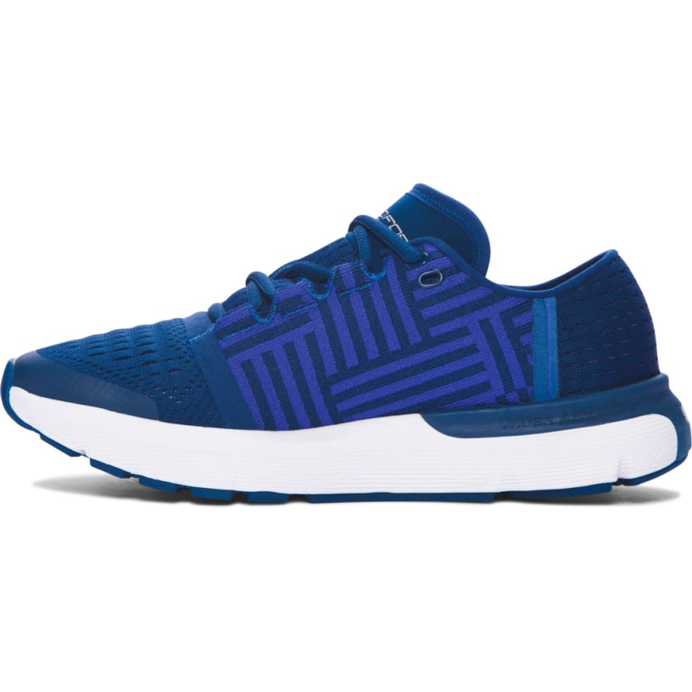 UNDER ARMOUR Women's SpeedForm® Gemini 3 Running Shoes, Blackout Navy - BLKOUT NVY/DEEP PERI