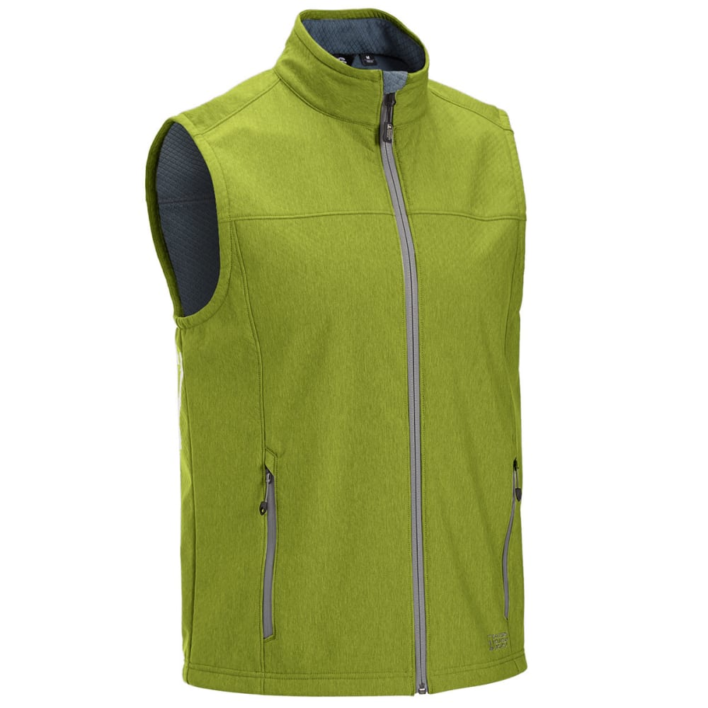 EMS Men's Rampart Soft-Shell Vest - CHARTREUSE HTR
