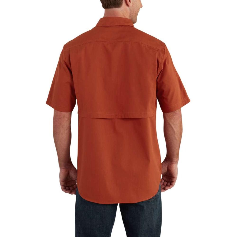 CARHARTT Men's Force Ridgefield Short-Sleeve Shirt - DROP SPICE 803