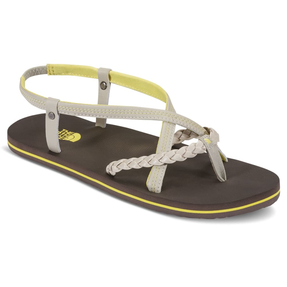 THE NORTH FACE Women's Base Camp Plus Gladiator Sandals, Ivory/Falcon Brown 6