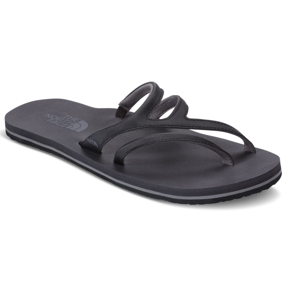 THE NORTH FACE Women's Base Camp Plus Asymmetric Flip Flops, TNF Black/Kitten Grey - BLACK