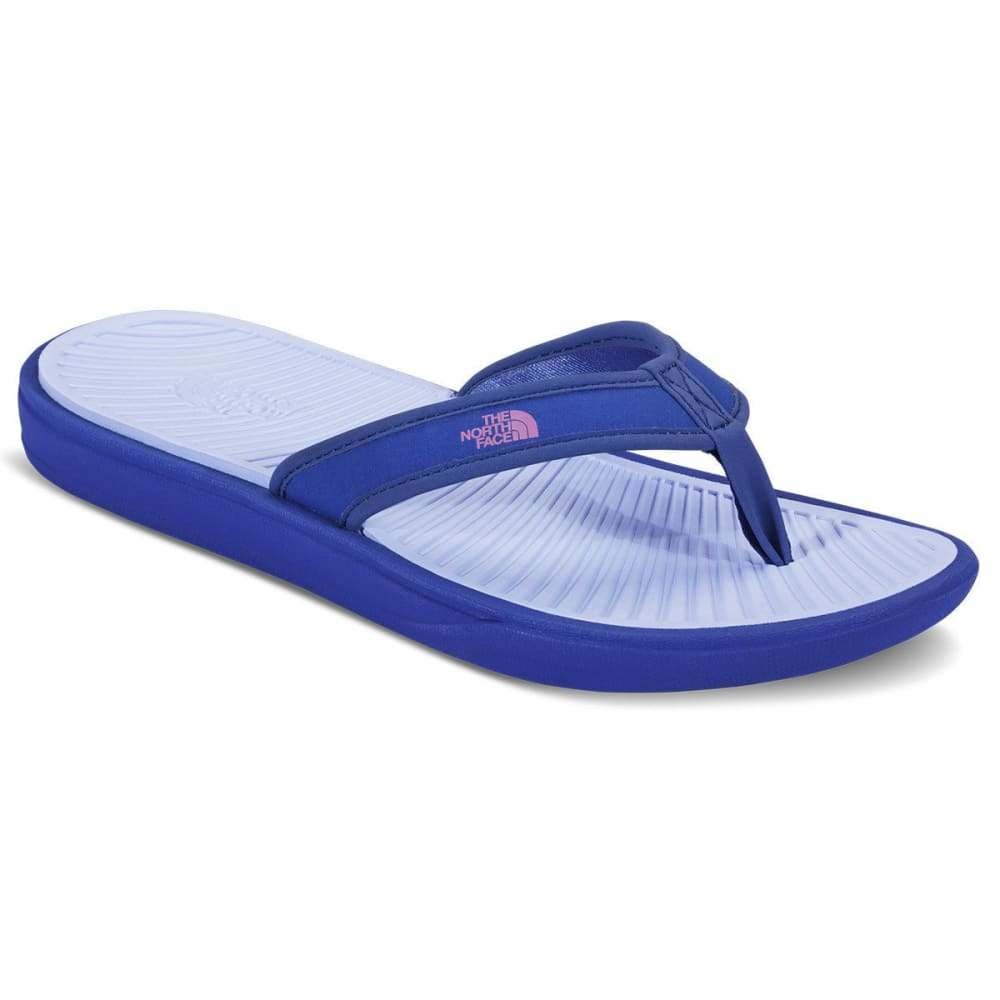 THE NORTH FACE Women's Base Camp Lite Flip Flops, Amparo Blue/Chambray Blue - BLUE