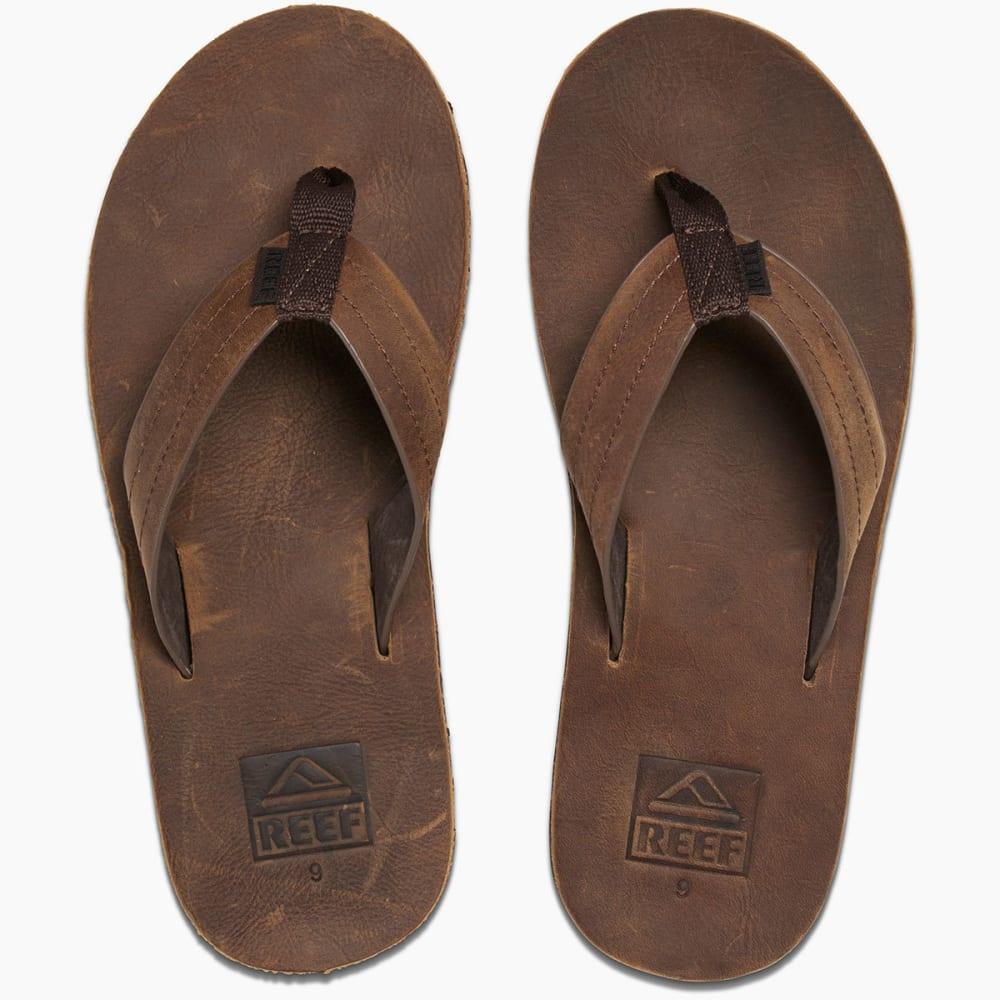REEF Men's Voyage LE Sandals, Dark Brown - DARK BROWN