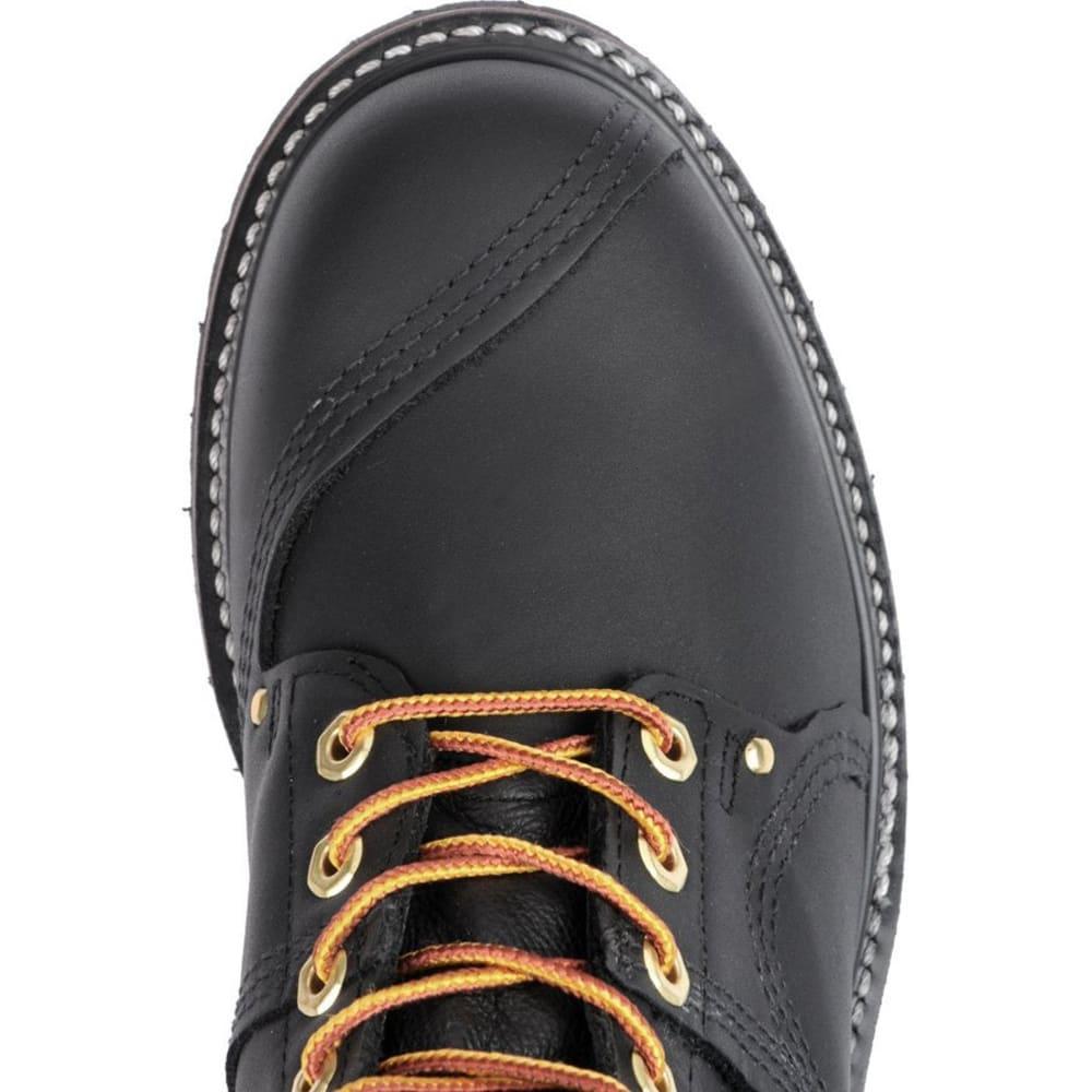"""CAROLINA Men's Wide 10"""" Domestic Steel Toe Linesman Boots, Black Oiltan - BLACK OILTAN"""