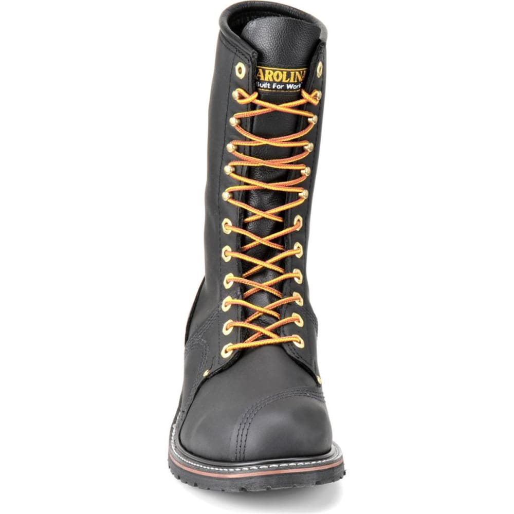"CAROLINA Men's 10"" Domestic Steel Toe Linesman Boots, Black Oiltan - BLACK OILTAN"