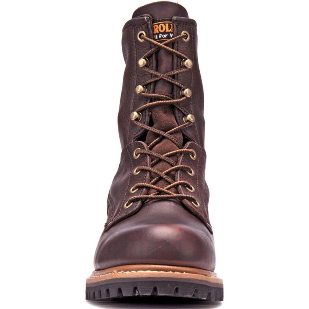 "CAROLINA Men's 8"" Logger Boots, Medium Brown - MEDIUM BROWN"