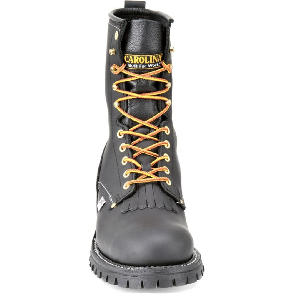 "CAROLINA Men's Extra Wide 3E 9"" Domestic Logger Boots, Black Oiltan - BLACK OILTAN"