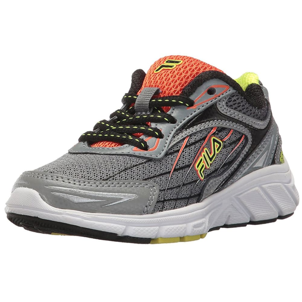 FILA Boys' Imperative Running Shoes, Grey - BLACK