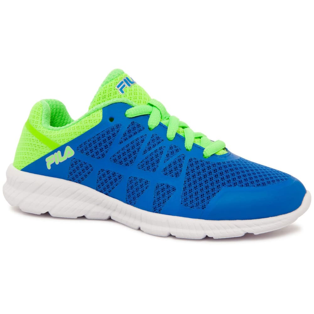 FILA Preschool Boys' Finity Running Shoes, Blue/Green - BLUE