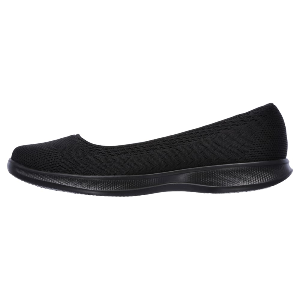 SKECHERS Women's Go Step Lite Solace Flats, Black - BLACK