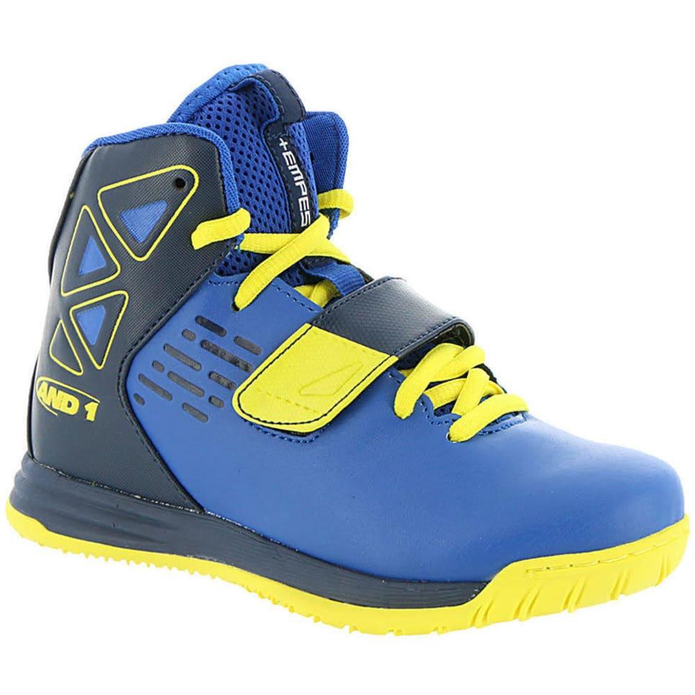 AND1 Boys' Grade School Tempest Basketball Shoes, Royal/Blazing Yellow - ROYAL BLUE