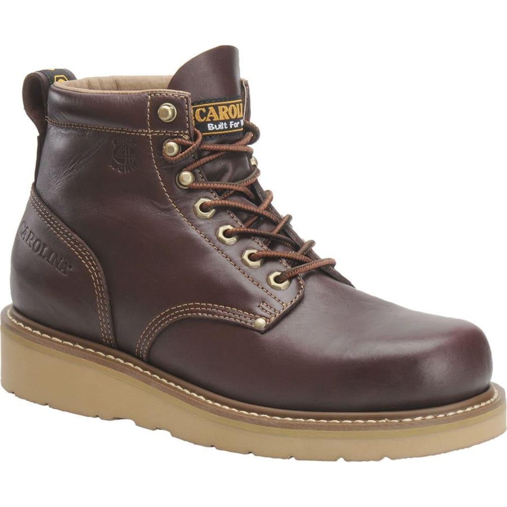 "CAROLINA Men's Wide 6"" Broad Toe Wedge Work Boot, Red/Brown - RED/BROWN"
