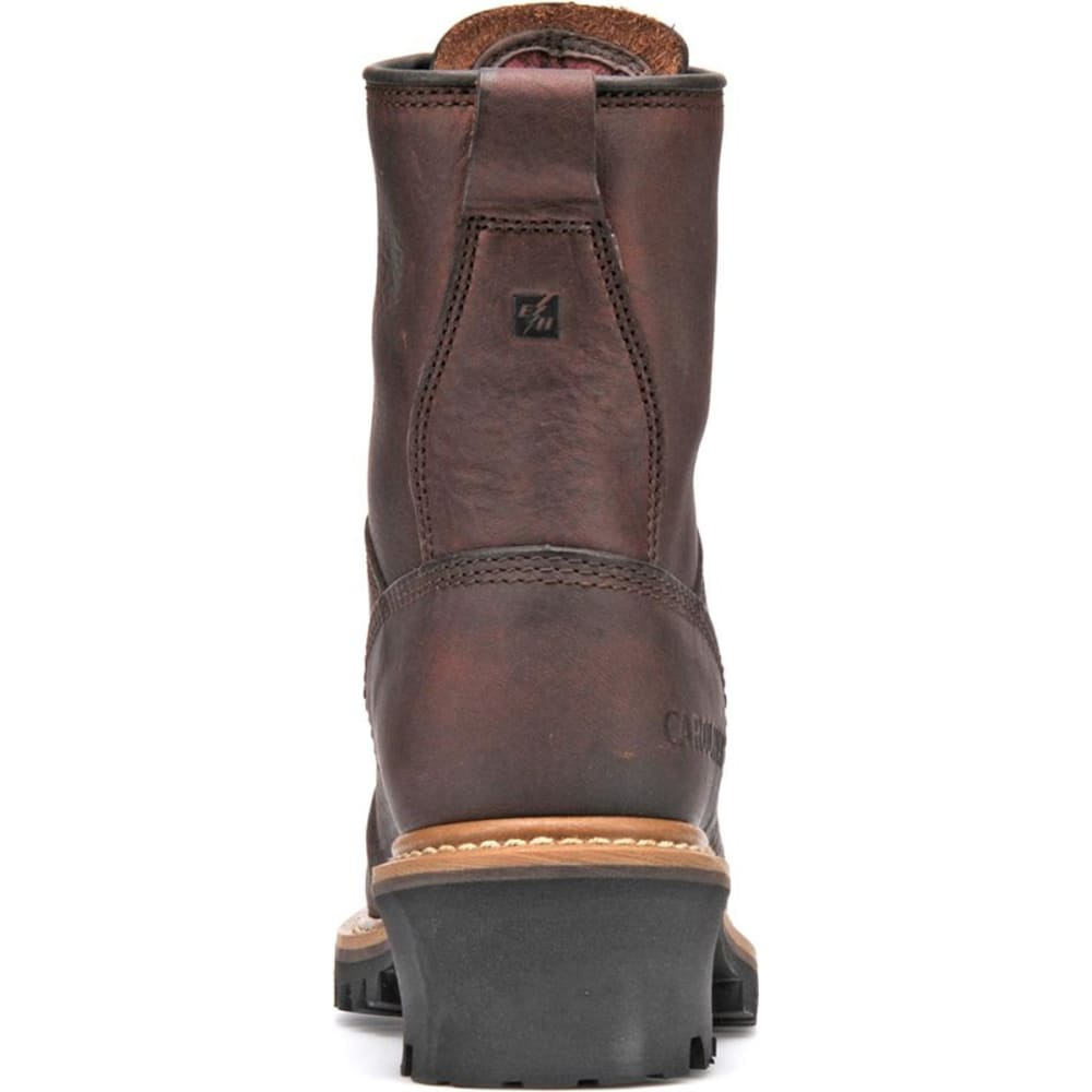 "CAROLINA Women's Wide 8"" Logger Boots, Dark Brown - DARK BROWN"