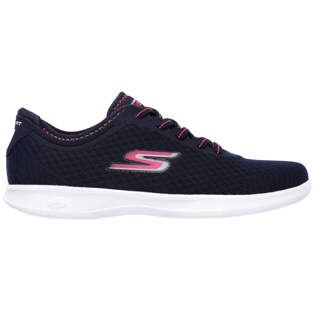 SKECHERS Women's Go Step Lite  Dashing Walking Shoes, Navy/Pink - NAVY/PINK