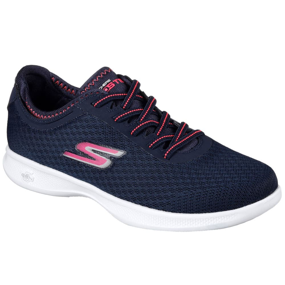 SKECHERS Women's Go Step Lite – Dashing Walking Shoes, Navy/Pink - NAVY/PINK