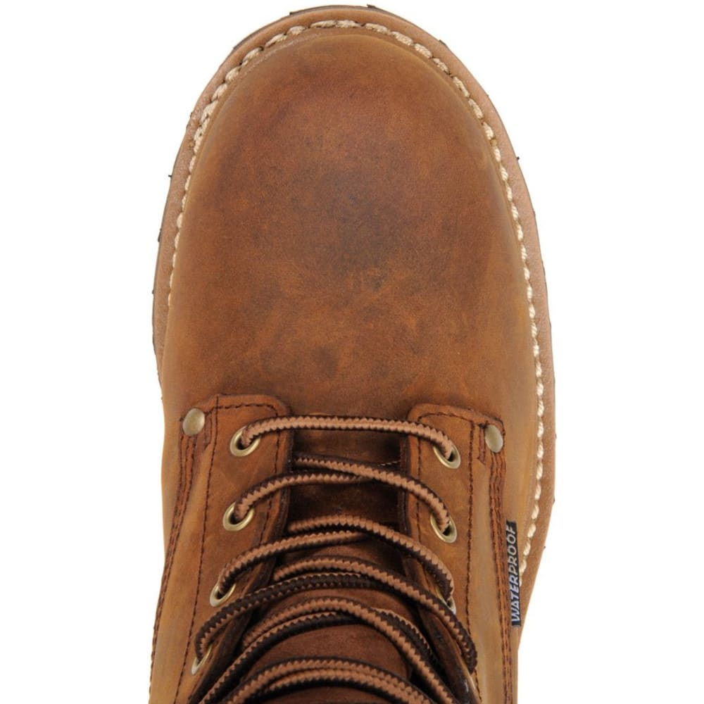 "CAROLINA Men's Extra Wide 8"" Waterproof Insulated Logger Boots, Medium Brown - MEDIUM BROWN"