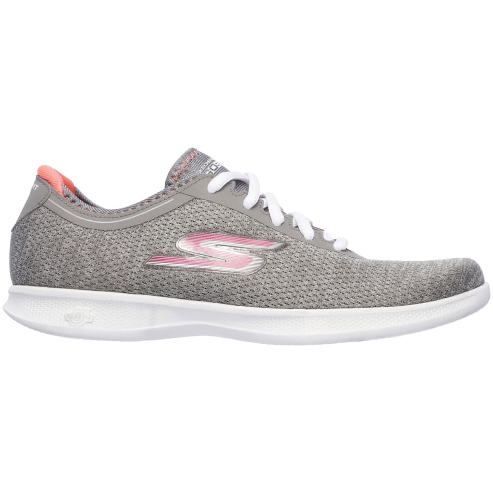 SKECHERS Women's Go Step Lite – Agile Sneakers, Grey/Pink - GREY/PINK