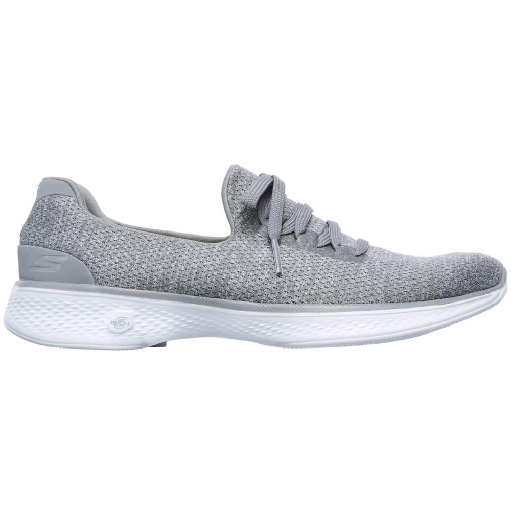 SKECHERS Women's Go Walk 4 – All Day Comfort Walking Shoes, Grey - GREY