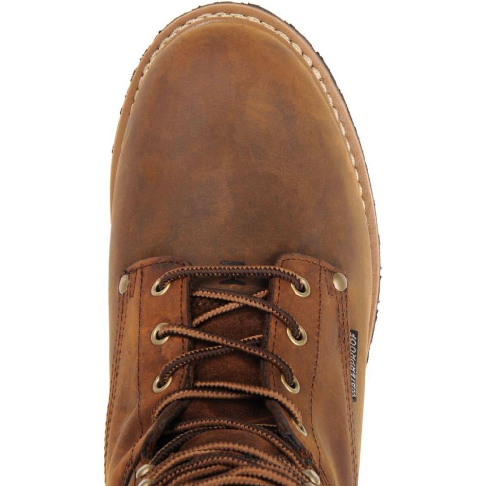 "CAROLINA Men's 8"" Waterproof Insulated Steel Toe Internal MetGuard Logger Boots, Dark Brown - DARK BROWN"