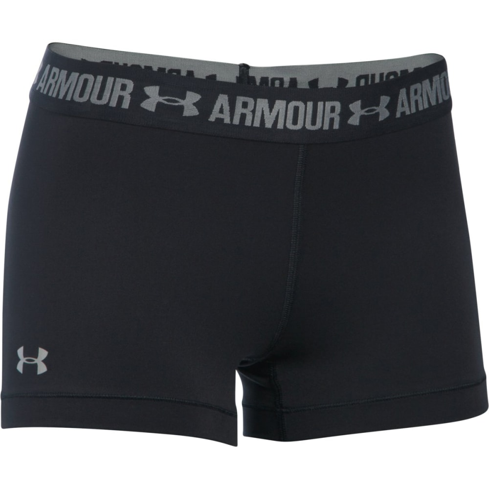 UNDER ARMOUR Women's 3 in. HeatGear Armour Shorts - BLACK-001