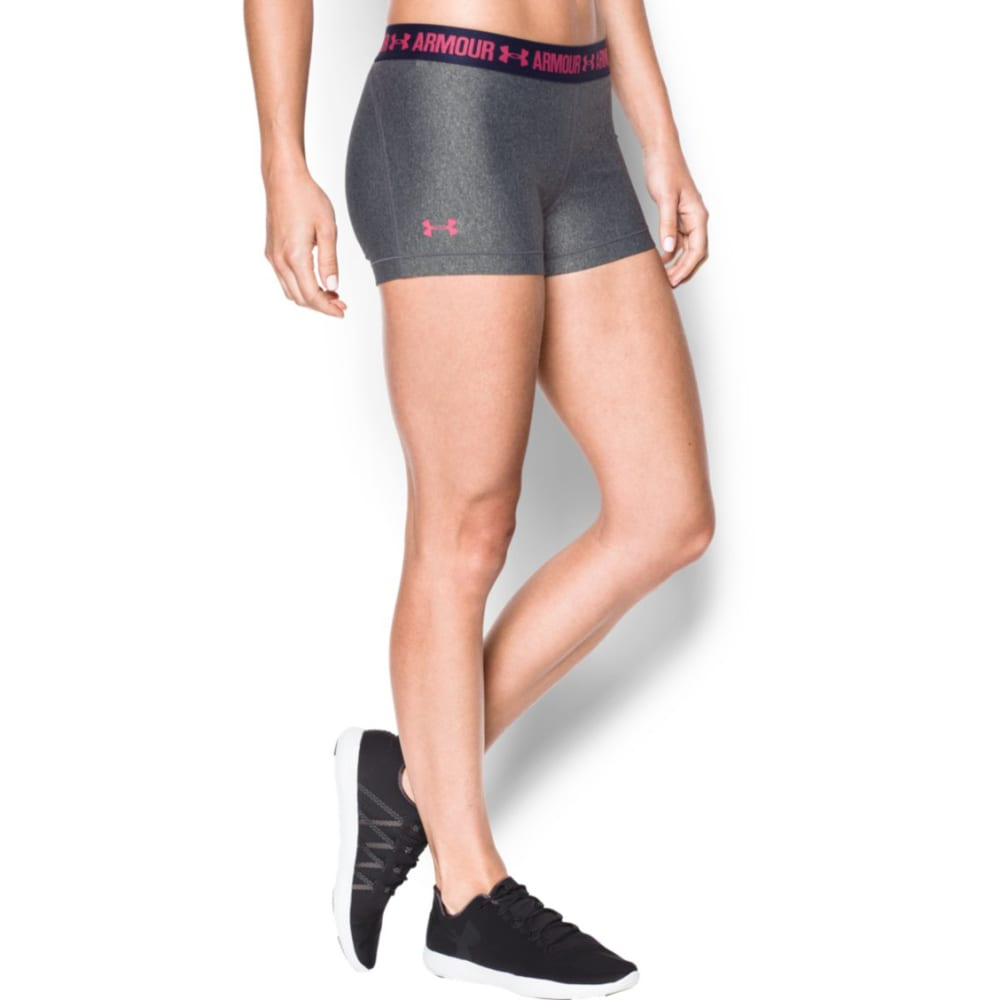 UNDER ARMOUR Women's 3 in. HeatGear Armour Shorts - CARB/NVY/PINK 099