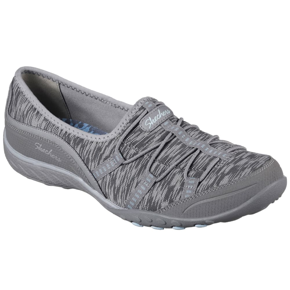 SKECHERS Women's Relaxed Fit: Breathe Easy – Golden Walking Shoes - GOLDEN GRY