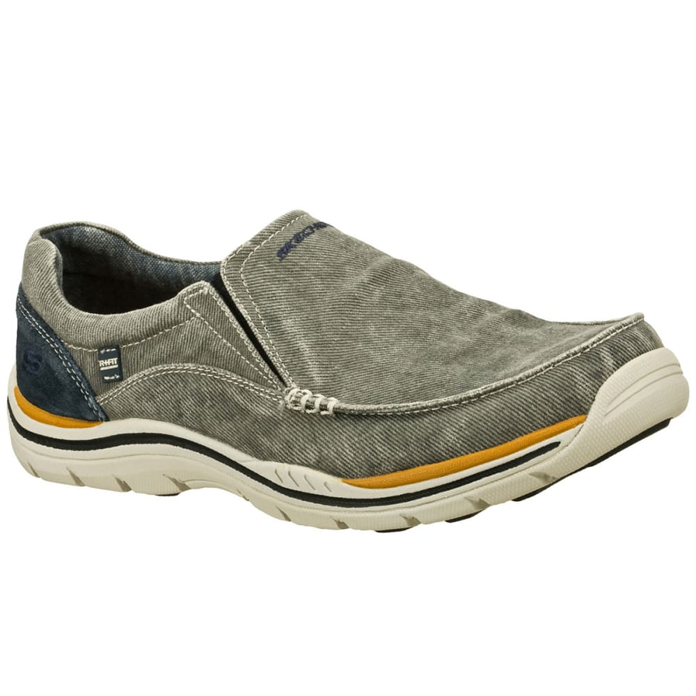 SKECHERS Men's Relaxed Fit: Expected – Avillo Casual Slip-On Shoes, Blue - BLUE