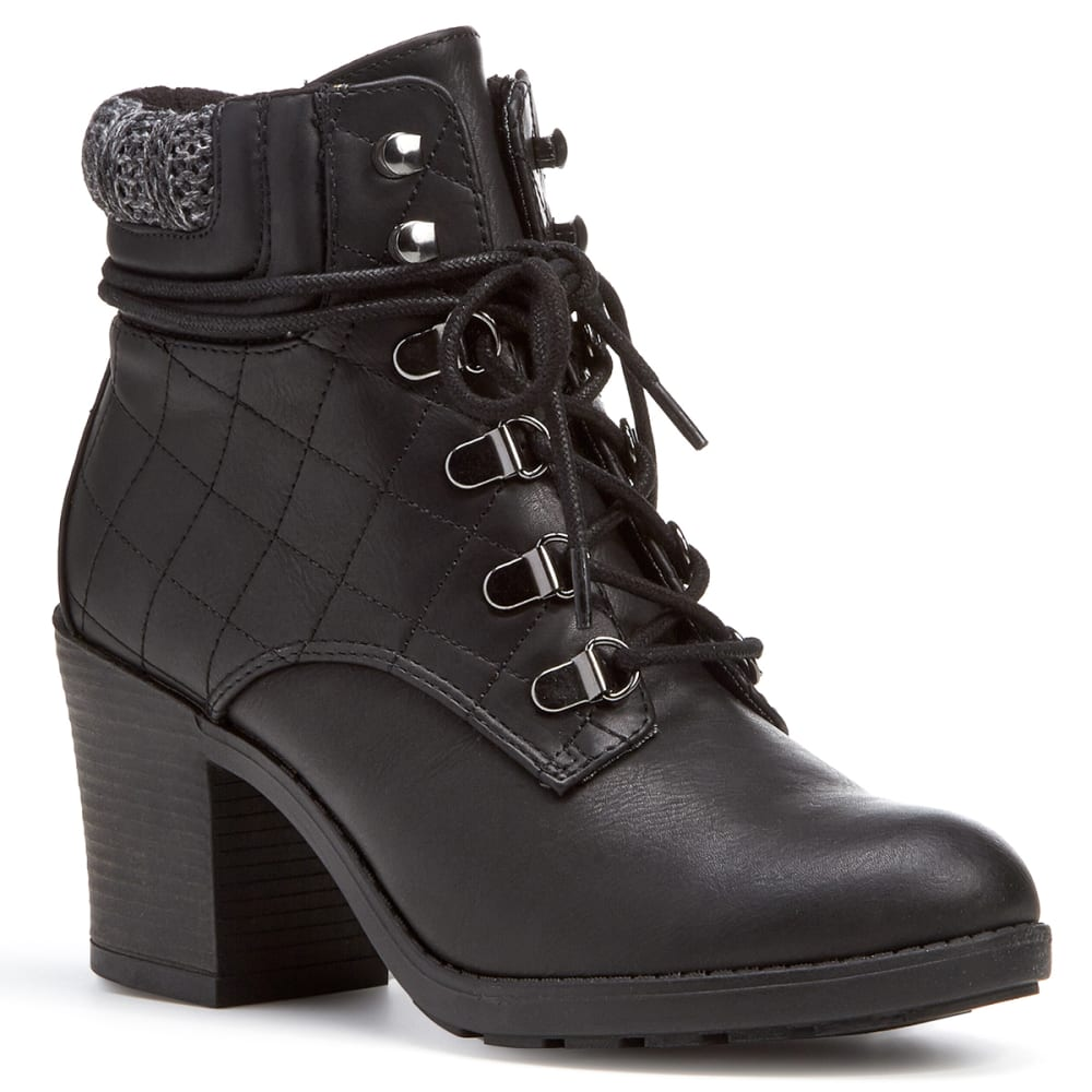 MIA Women's Teddy Lace-Up Ankle Boots, Black 6