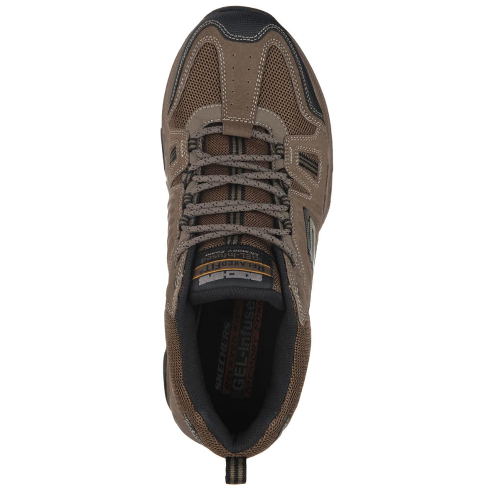 SKECHERS Men's Relaxed Fit: Cross Court TR - Open Country Shoes - BROWN/BLACK