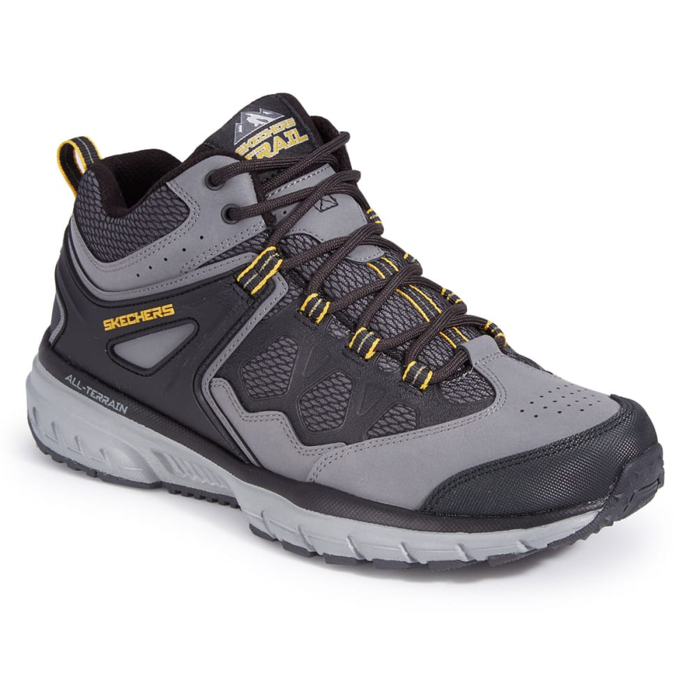 SKECHERS Men's Geo-Trek – Sequencer Sneakers - CHARCOAL/BLACK