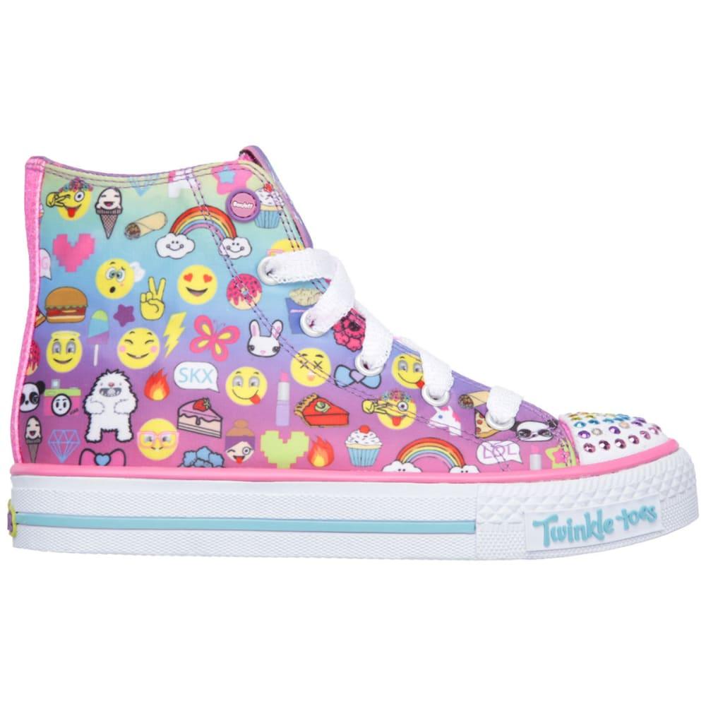 SKECHERS Girls' Twinkle Toes: Shuffles - Chat Time Sneakers - MULTI