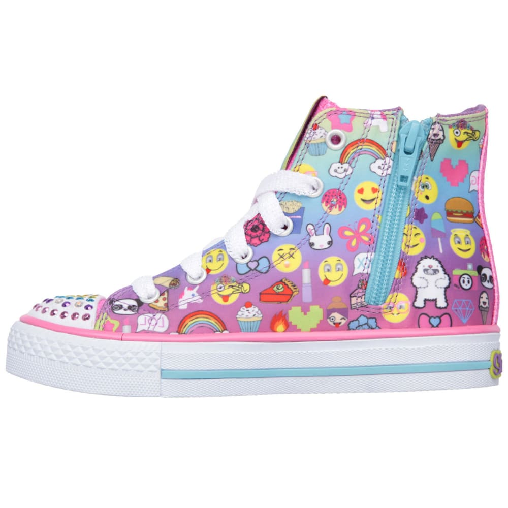 SKECHERS Girls' Twinkle Toes: Shuffles - Chat Time Sneakers - MULTI