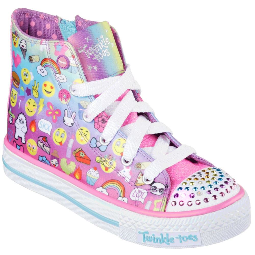 Skechers Girls' Twinkle Toes: Shuffles - Chat Time Sneakers - Various Patterns, 1.5