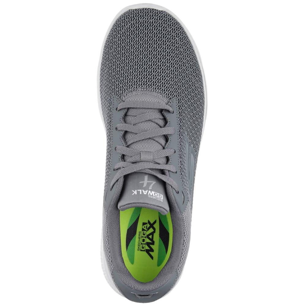 SKECHERS Men's GOwalk 4 Sneakers, Wide - CHARCOAL
