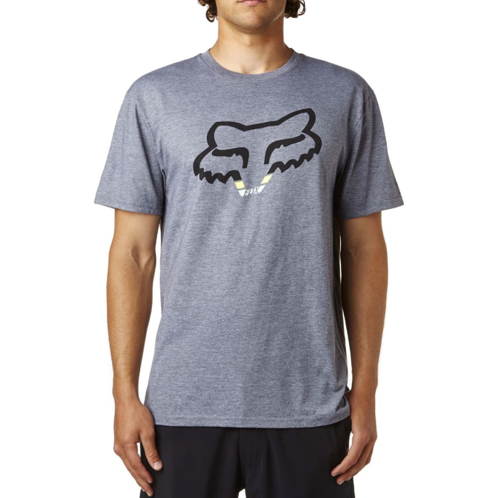 FOX Guys' Seca Head Short-Sleeve Tee - 185-HTR GRAPHITE