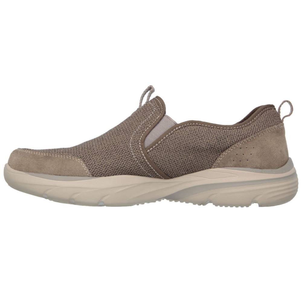 SKECHERS Men's Relaxed Fit: Corven – Horst Casual Slip-On Shoes, Brown - LIGHT BROWN