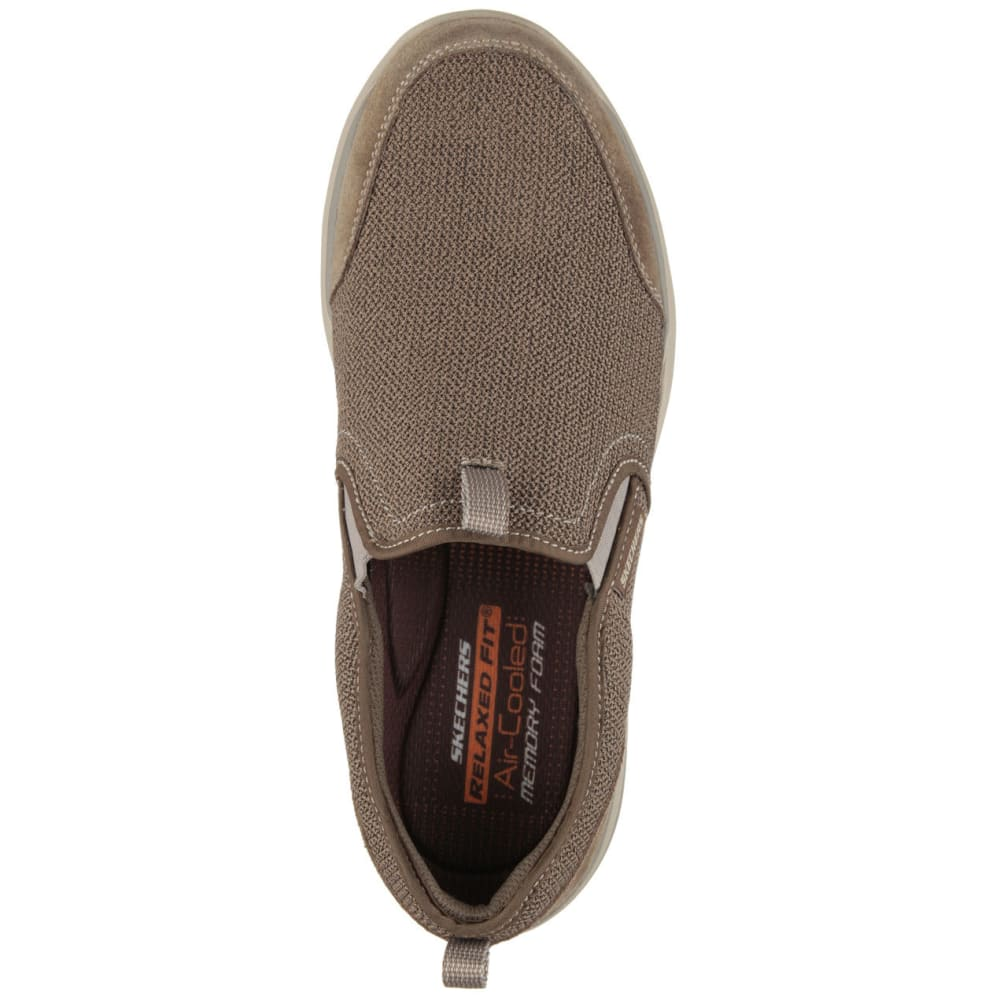 SKECHERS Men's Relaxed Fit: Corven -  Horst Casual Slip-On Shoes, Brown - LIGHT BROWN