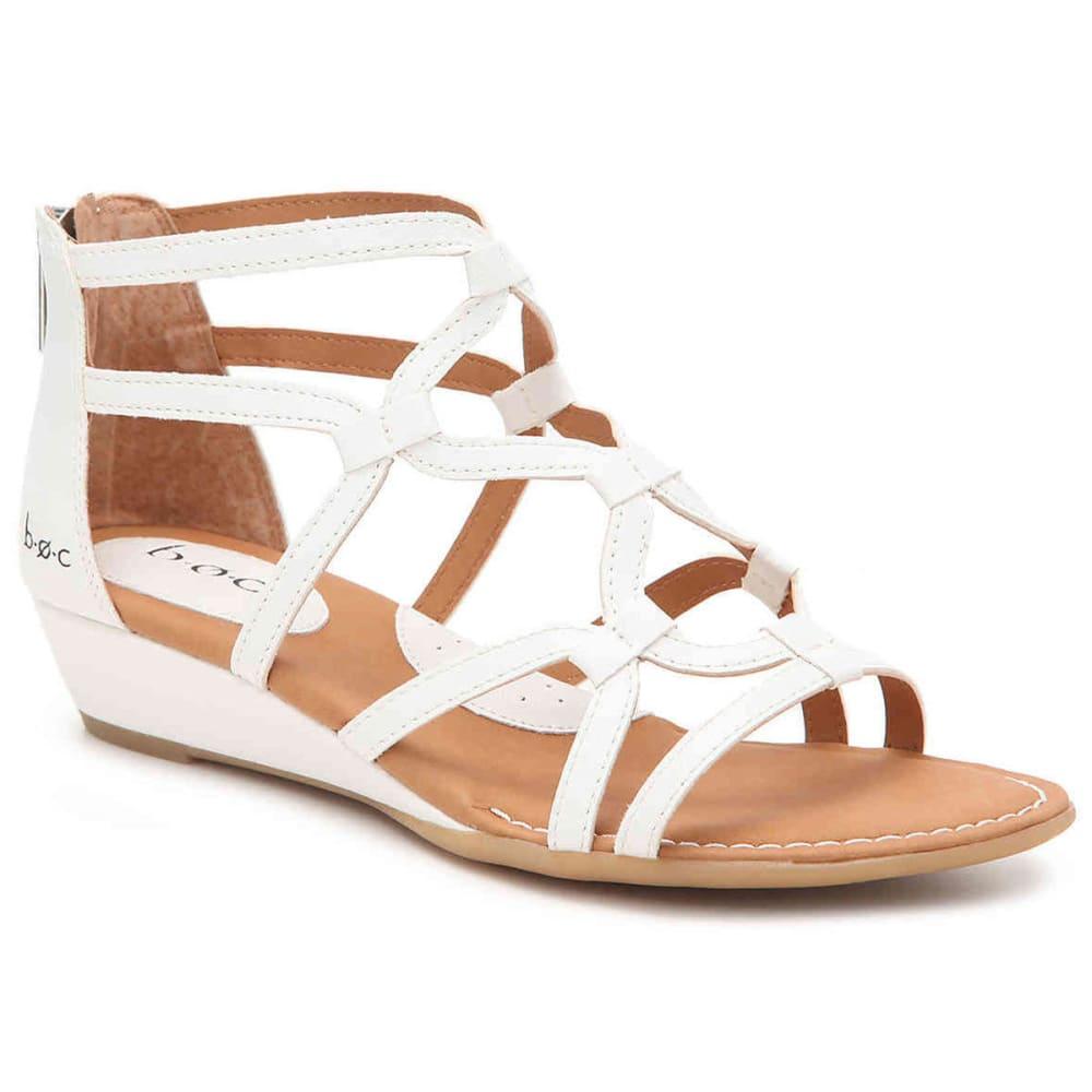 B.O.C. Women's Pawel Demi Wedge Sandals, White 6