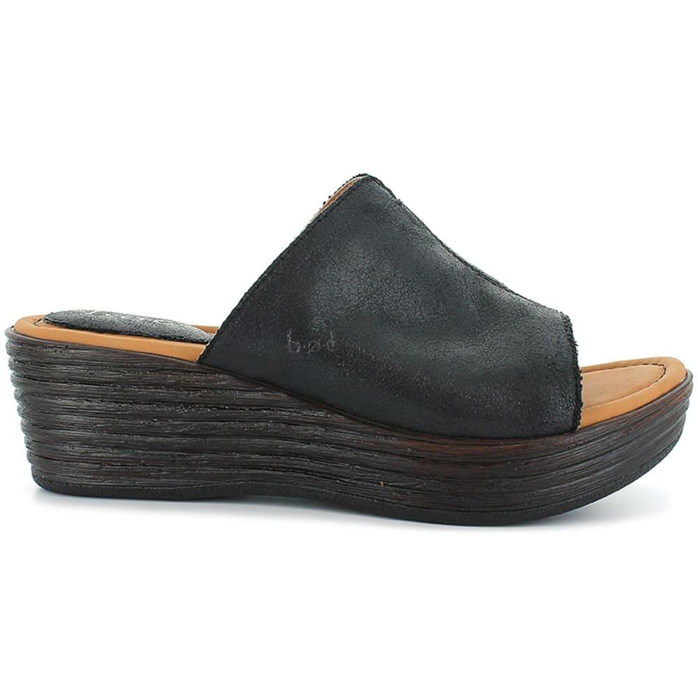 BOC Women's Elisabeth Slide Wedge Sandals - BLACK