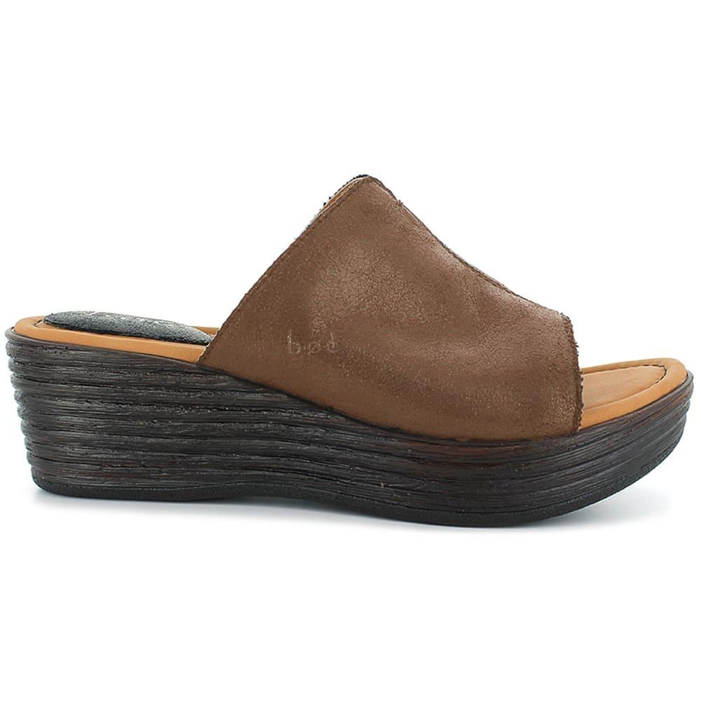 BOC Women's Elisabeth Slide Wedge Sandals - LIGHT BROWN