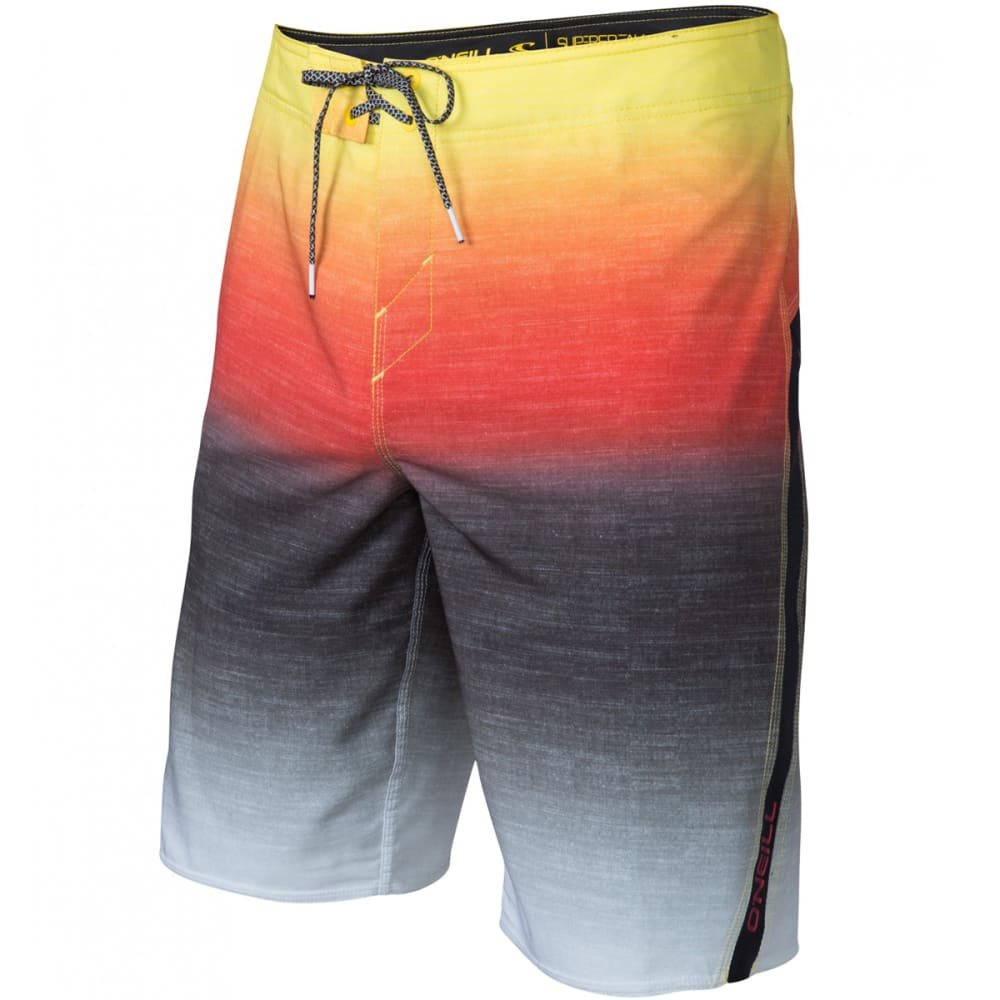 O'NEILL Guys' Superfreak Fader Boardshorts - RED-RED