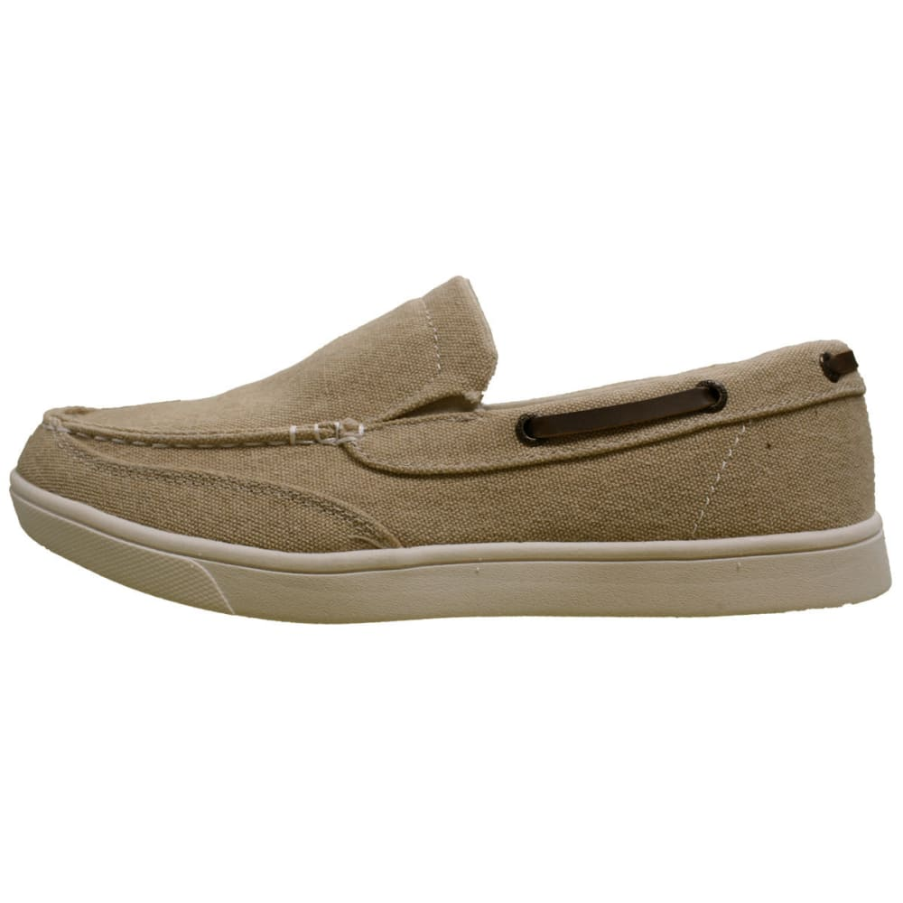 ISLAND SURF Men's Vineyard Boat Shoes - BEIGE-TAN