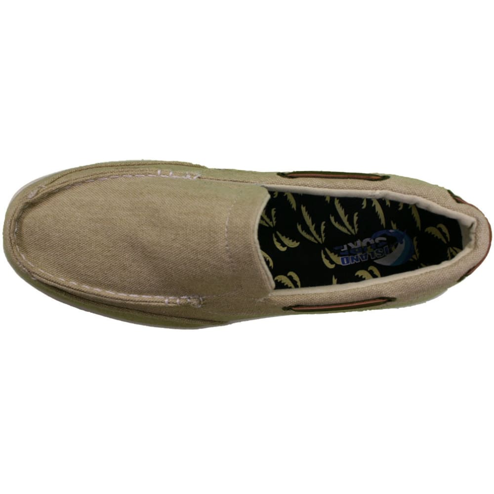 ISLAND SURF Men's Vineyard Boat Shoes - BEIGE-TAN