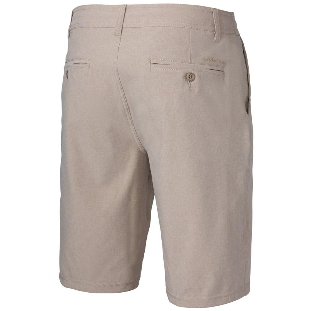 O'NEILL Men's Loaded Heather Hybrid Shorts - HTR KHAKI-KHA