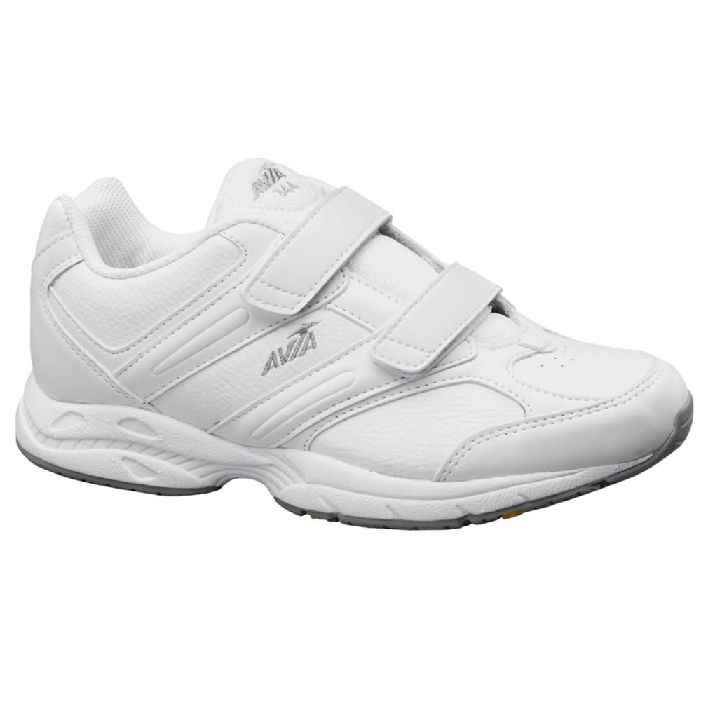 AVIA Women's A344W Velcro Walking Shoes - WHITE