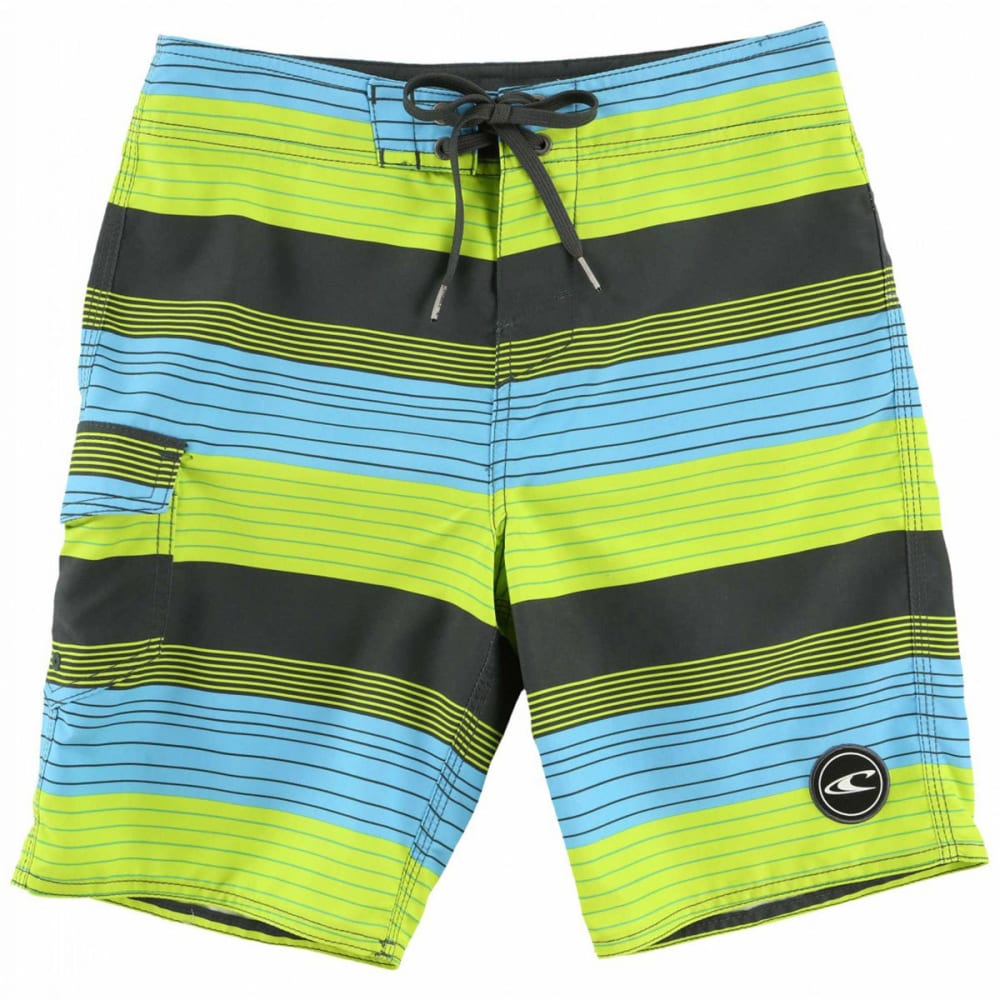 O'NEILL Boys' Santa Cruz Stripe Boardshorts - LIM-LIME